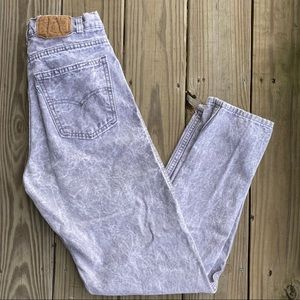 Levi's Vintage Acid Wash High Waisted Mom Jeans